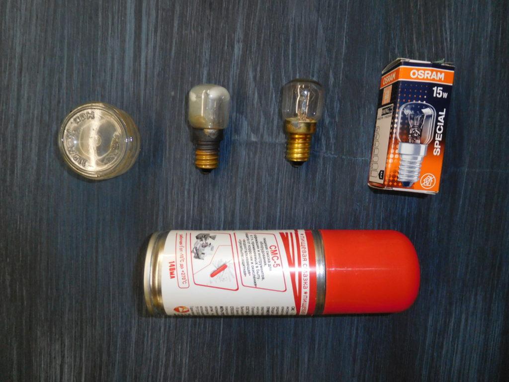 Замена лампочки в духовом шкафу