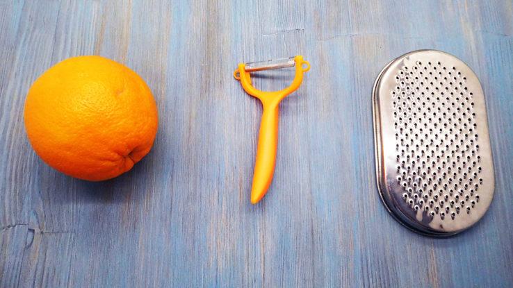 Заготовка апельсиновой цедры